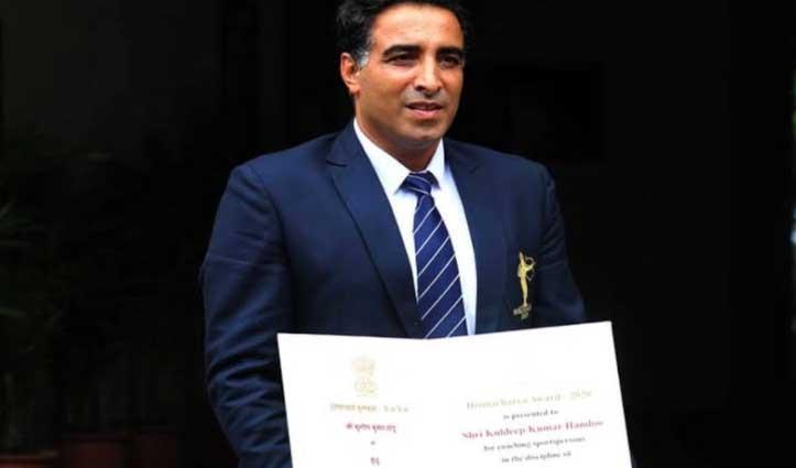 द्रोणाचार्य पुरस्कार से सम्मानित कुलदीप हांडू बने #Fit_India के #Ambassador