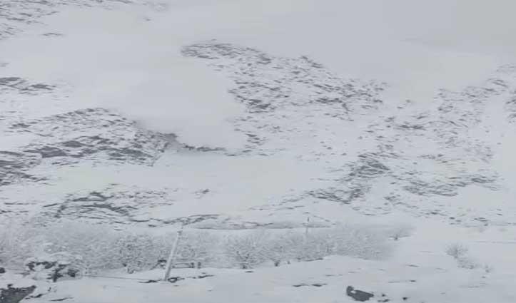 lahul के तोजिंग गांव में गिरा Glacier,जानमाल नहीं कोई नुकसान