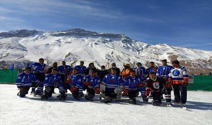 इस बार काजा में होगा National Under-20 Ice Hockey Tournament,कोचिंग कैंप शुरु