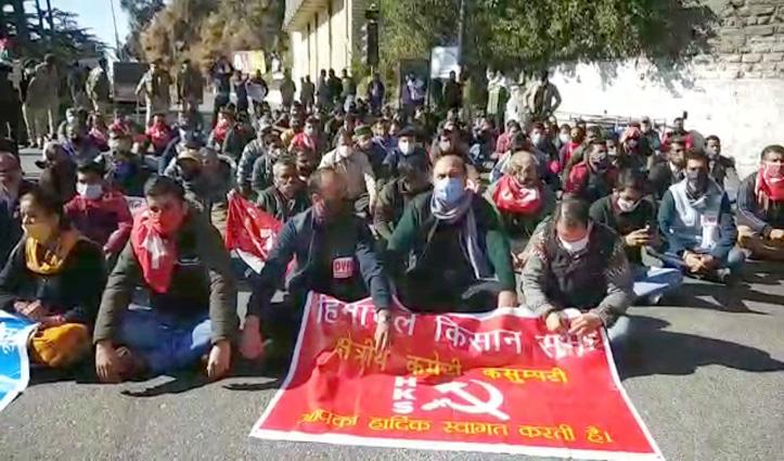 #BharatBandh हिमाचल में खास असर नहींः शिमला में चक्का जाम-जिलों में हुए प्रदर्शन