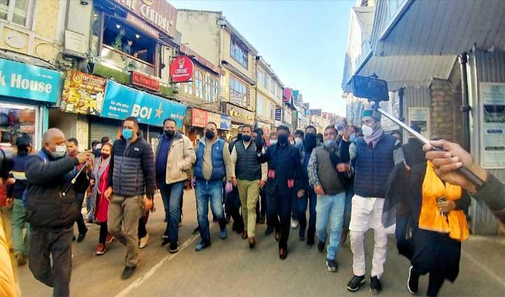 #Jairamgovt के 3 साल vs काला दिवस- मुंह पर काली पट्टी बांध कांग्रेसियों का प्रदर्शन