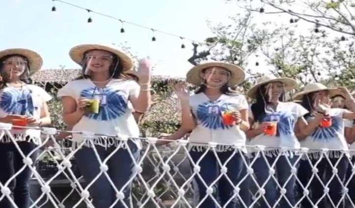 #Miss_Thailand के लिए चल रहे फोटोशूट में Models के साथ हुआ हादसा, देखिए #Viral_Video