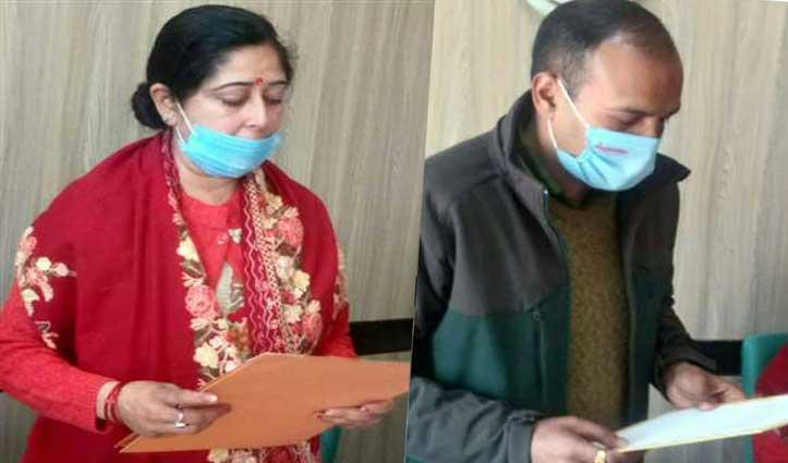 जोगेंद्रनगर नगरपरिषद में कांग्रेस की ममता कपूर अध्यक्ष व अजय धरवाल बने उपाध्यक्ष