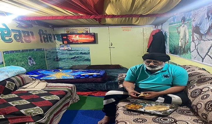 Sindhu border पर एक शख्स ने ट्रक को बना दिया घर, TV से लेकर Toilet तक हर सुविधा मौजूद