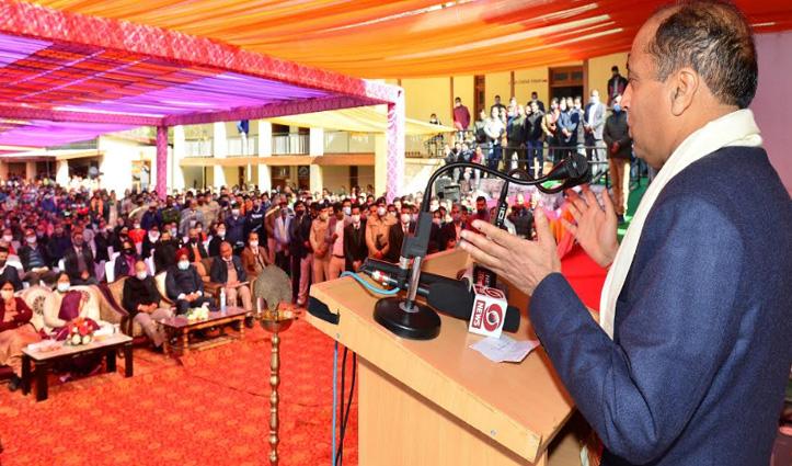 सराज क्षेत्र के लोगों को घरद्वार मिलेगा न्याय, CM Jai Ram ने थुनाग में सिविल कोर्ट का किया शुभारंभ