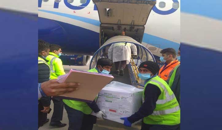 शिमला पहुंची Corona Vaccine, चंडीगढ़ एयरपोर्ट पर की रिसीव, फिर सड़क मार्ग से पहुंचाई