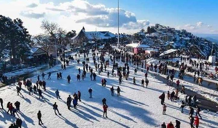 #Shimla में पटरी पर लौटा #Tourism कारोबार, दिसंबर में बढ़ी पर्यटकों की आमद