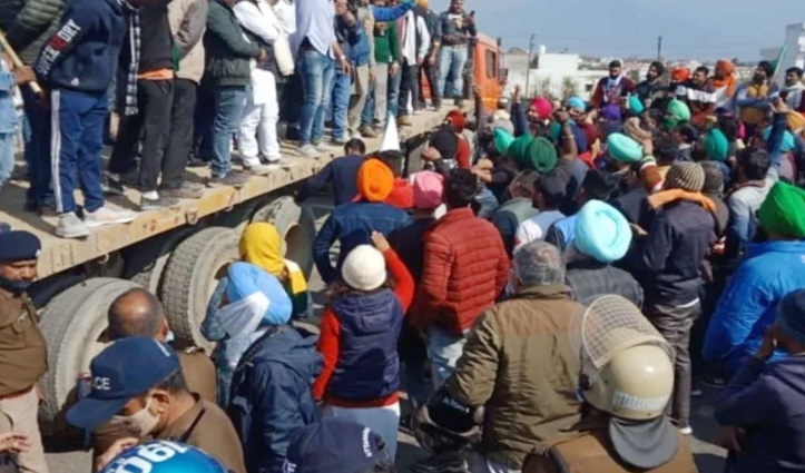 #FarmersProtest : उत्तराखंड में किसानों ने किया राजभवन के लिए कूच, चप्पे-चप्पे पर पुलिस बल तैनात