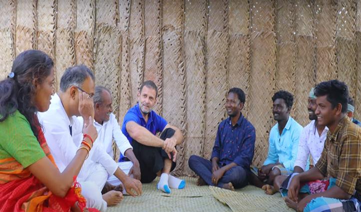 राहुल गांधी का नया अंदाज आया सामने, Video देख लोग बता रहे जमीन से जुड़ा नेता