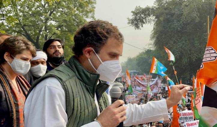 घेराव करने राज निवास तक नहीं पहुंच पाए Rahul-Priyanka, जंतर-मंतर में कांग्रेस सांसदों से मिले