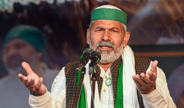 गाजीपुर बॉर्डर : किसान नेता राकेश टिकैत ने दी आत्महत्या की धमकी, बोले-गांव का पानी ही पीऊंगा