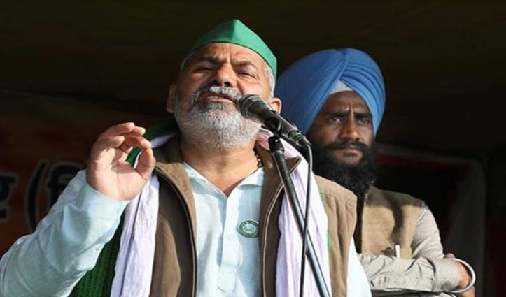#GhazipurBorder : किसान नेता राकेश टिकैत ने कहा-बंदूक की नोक पर नहीं होगी बातचीत