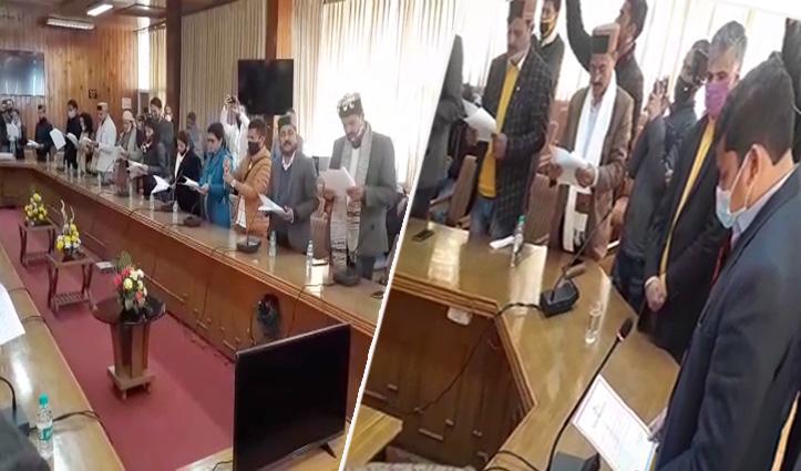 शिमला जिप के 24 नवनिर्वाचित सदस्यों ने ली शपथ, 4 को होगा अध्यक्ष व उपाध्यक्ष का फैसला