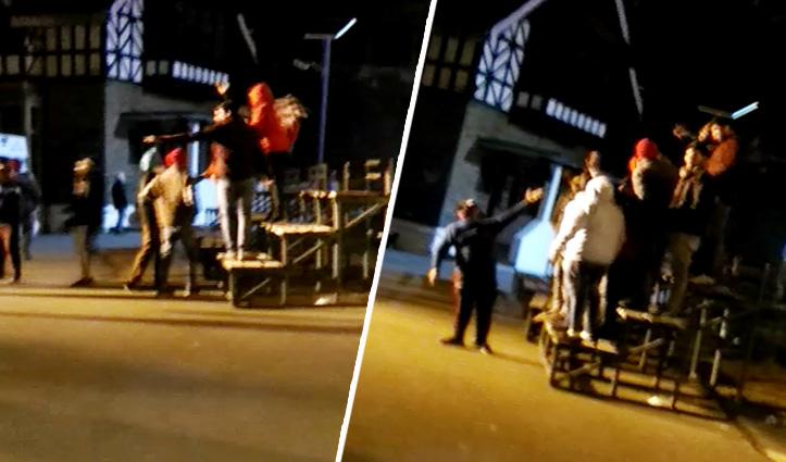 किसान आंदोलन के समर्थन में रिज पर Tourists की नारेबाजी, पुलिस ने काटा चालान