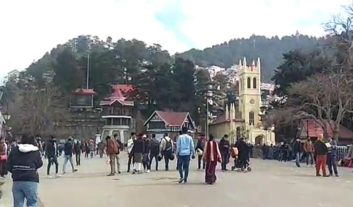 #Himachal के पर्यटन कारोबार को लगे पंख, 10 दिन में Shimla पहुंचे रिकॉर्ड वाहन