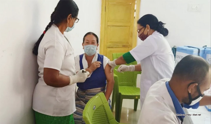 Frontline Healthcare workers from Tibetan health care centers have started to get Covid-19 vaccination
