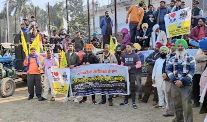 #Tractorrally : गणतंत्र दिवस पर Paonta में किसानों ने निकाली ट्रैक्टर रैली, दिया ये संदेश