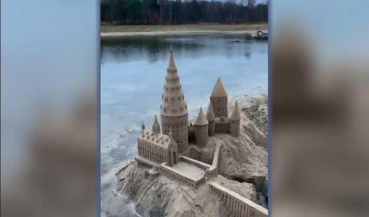 सैंड आर्टिस्ट ने बनाया किया Harry Potter का स्कूल हॉगवर्ट्स, लोग बोले-वाह!