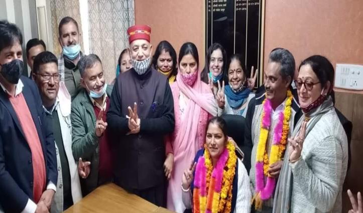 हमीरपुर जिला परिषद पर BJP का कब्जा, Congress समर्थित प्रत्याशी के समर्थन से दर्जी बने उपाध्यक्ष