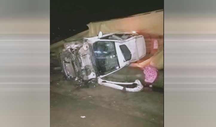 चंडीगढ़ -मनाली एनएच पर हादसे की शिकार हुई कार, महिला की गई जान