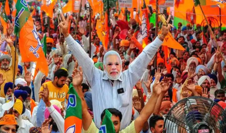 गुजरात निकाय चुनाव : बीजेपी ने किया कांग्रेस का सफाया, AAP-AIMIM ने भी खोला खाता