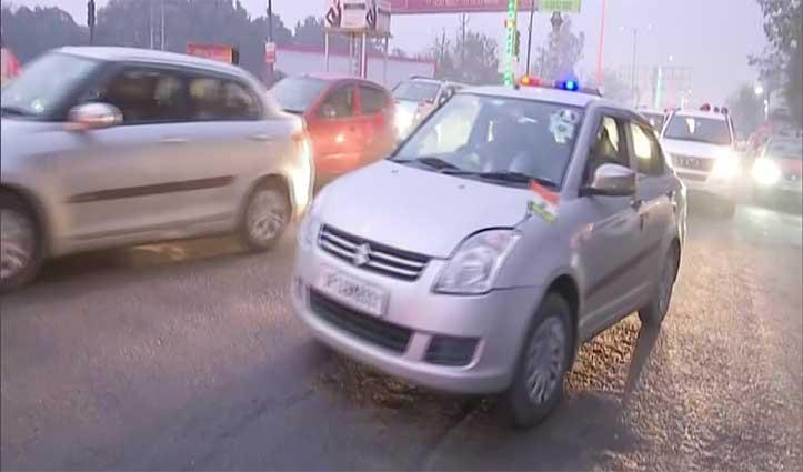 प्रियंका गांधी के काफिले की गाड़ियां आपस में टकराई, रामपुर जाते हुआ हादसा