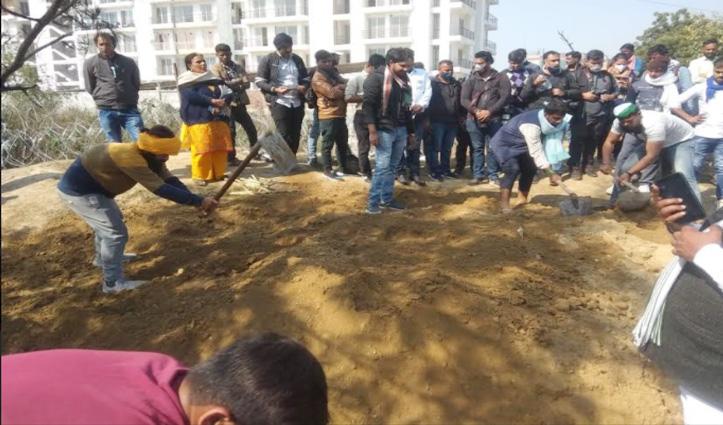 हरियाणा-पंजाब में #ChakkaJam का दिखा व्यापक असर, टिकैत ने प्रदर्शन स्थल पर की खेती