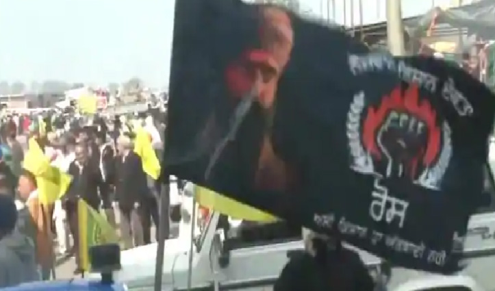 #ChakkaJam : लुधियाना में प्रदर्शन के दौरान ट्रैक्टर पर दिखी भिंडरावाले की तस्वीर!