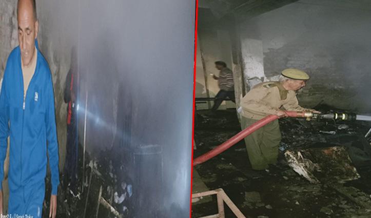 रात को बंजार में राशन की दुकान में भड़क गई आग, हुआ नुकसान