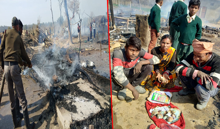 Himachal : इस जिला में प्रवासी मजदूरों की डेढ़ दर्जन झुग्गियां राख, एक लाख Cash भी जला