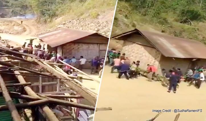 घर को ही शिफ्ट कर दिया, गांव वालों ने मिलकर कैसे उठाया, देखें Video