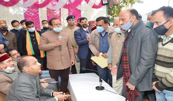 पालमपुर पहुंचे सीएम Jai Ram Thakur ने अपना अगला लक्ष्य ये बताया, आप भी जानें