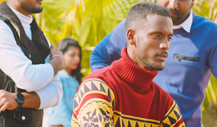 मंडी में हो रही पंजाबी सिंगिंग सेंसेशन Kaka के गाने की शूटिंग, गायक को देखने के लिए उमड़ी भीड़