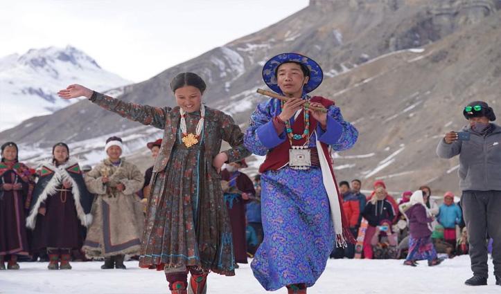 सगनम के स्नो फेस्टिवल में दिखे लाहुल स्पीति की संस्कृति के रंग