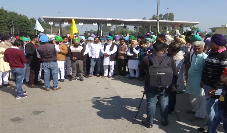 Live : किसानों का देशव्यापी चक्का जाम शुरू, Delhi में 10 मेट्रो स्टेशन बंद