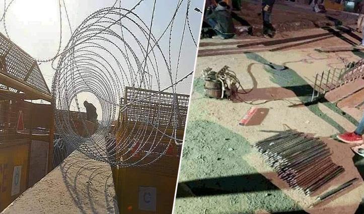 किसानों को रोकने के लिए पुलिस ने सड़कों में लगा दी कीलें – पूरे देश में चक्का जाम का ऐलान