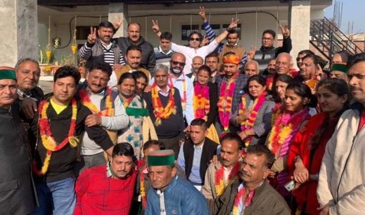 वीरभद्र सिंह की सजाई फील्डिंग में BJP आउट, पंचायत समिति कुनिहार में कांग्रेस ने जमाया कब्जा