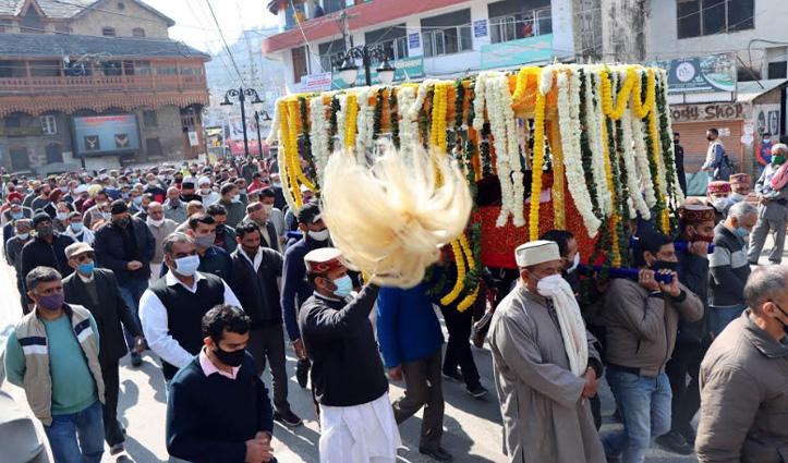 मंडी रियासत के राजा अशोक पाल सेन का राजसी परंपराओं के साथ हुआ अंतिम संस्कार