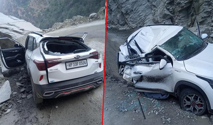 Mandi में कार पर गिरे पत्थर- एक की मौत, Kangra में 5 साल के मासूम की गई जान