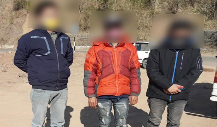 हमीरपुर पुलिस ने बिजड़ी बाजार में लाखों की हेरोइन के साथ पकड़े तीन लोग