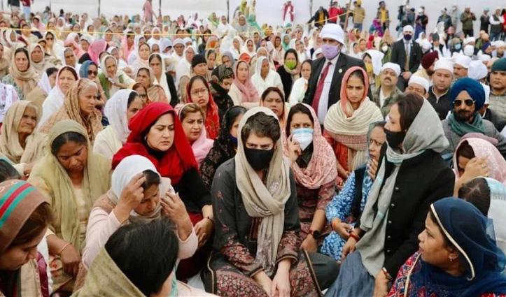 #TractorRally में जान गंवाने वाले नवरीत की अंतिम अरदास में पहुंची प्रियंका गांधी, बोलीं-व्यर्थ नहीं जाएगा बलिदान