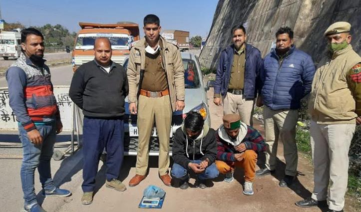 सुंदरनगर में शिमला के दो युवकों से पकड़ी चरस की खेप, मामला दर्ज