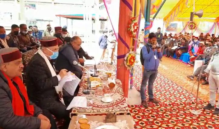 Himachal के 10 जिलों में सजा जनमंच, कोविड नियमों का पालन करते हुए मंत्री सुन रहे जनसमस्याएं
