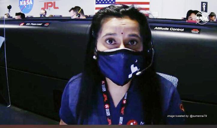 NASA के मिशन में अहम भूमिका निभाने वाली डॉ स्वाति की बिंदी बनी आकर्षण का केंद्र ,मुरीद हुए लोग
