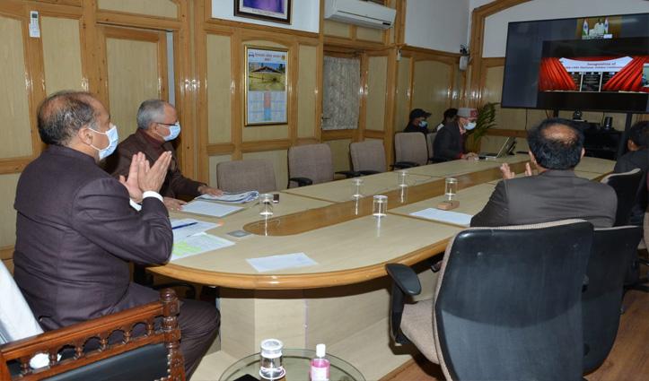Vice President Naidu inaugurates Covid-19 Make Shift Hospitals at nalagarh and tanda