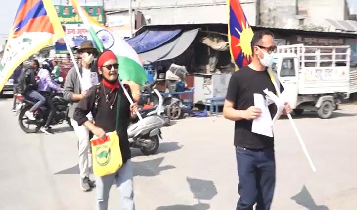ड्रैगन को मजबूर करने निकला आजादी का ये परवाना,दिल्ली तक पैदल जगाएगा अल्ख-Video