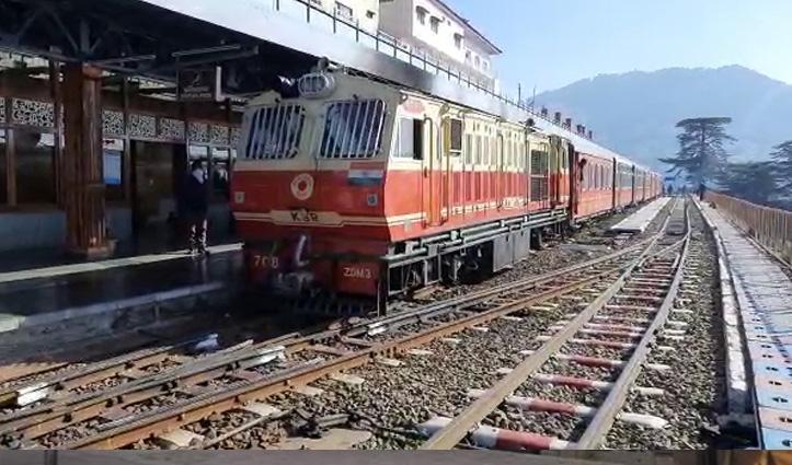 शिमला -कालका ट्रैक पर दौड़ी कोरोना काल में बंद पड़ी दो और ट्रेनें