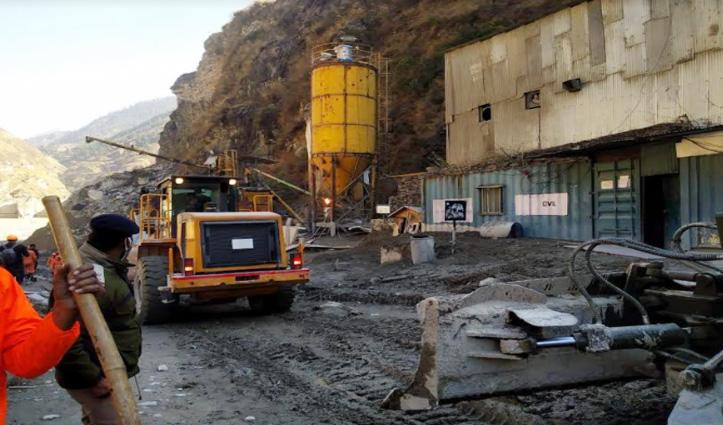 #Uttarakhand एकाएक बढ़ा अलकनंदा नदी का जलस्तर, तपोवन टनल में रुका Rescue Operation