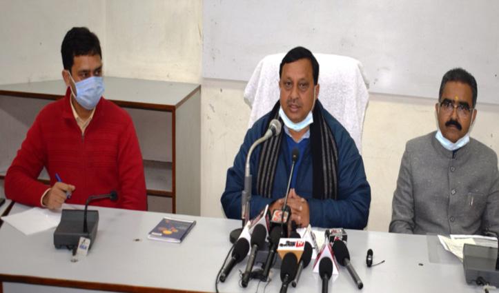 #Una में मीडिया से रूबरू हुए #jairam के दो मंत्री, क्या कुछ कहा-जानिए
