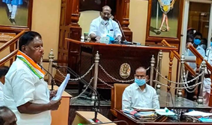 Congress के हाथों से निकली पुडुचेरी की सत्ता, सीएम नारायणसामी ने दिया इस्तीफा